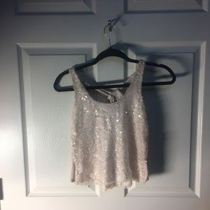 Small Pale Pink Halter Tank